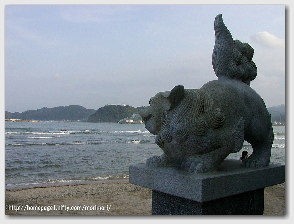 青島神社−狛犬