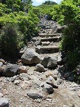 韓国岳登山(登山道の様子)