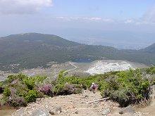 韓国岳登山(硫黄山と不動池)