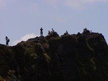 韓国岳登山(頂上)