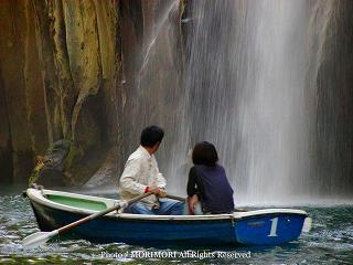 高千穂峡手漕ぎボートから見た高千穂峡の写真 09