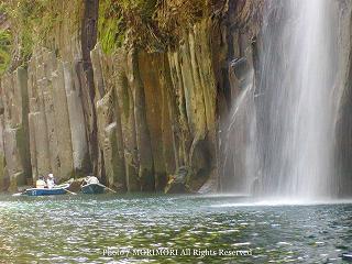 高千穂峡手漕ぎボートから見た高千穂峡の写真 10