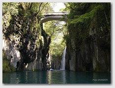 高千穂峡 真名井の滝 をボートより見る 01